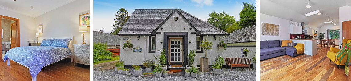 Glenview Cottage in Luss external view
